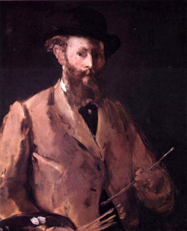 Manet. selfportrait.
