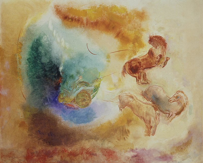 The Fall of Phaeton.  Redon.