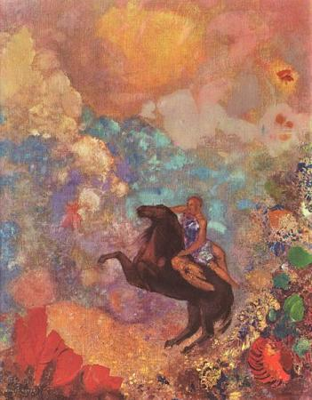 Muse on Pegasus. Redon.