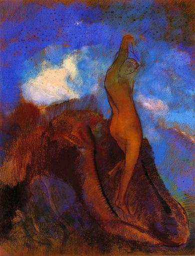 The birth of Venus.  Redon.