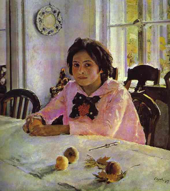 the girl with the peaches Serov