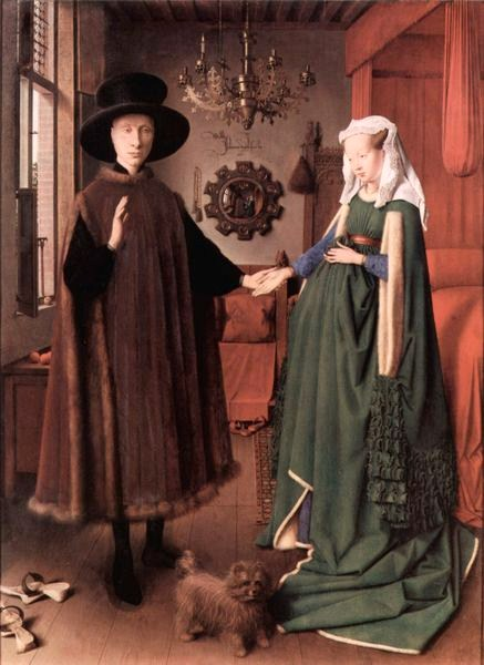Arnolfini Marriage.  Van Eyck.