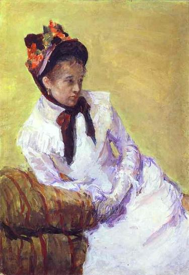 Mary Cassatt.  Self-portrait.