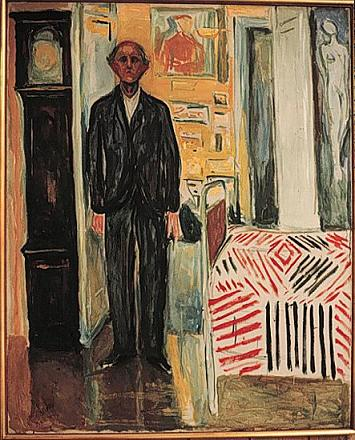 Edvard Munch.  Self-portrait.
