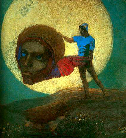 The Fall of Icarus.  Redon.